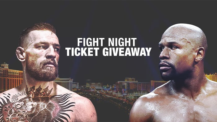 UFC Mayweather vs McGregor Fight Night Ticket Giveaway - Bovada
