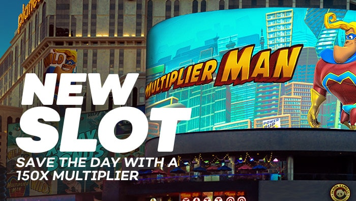 New Slot, Multiplier Man - Bovada Casino